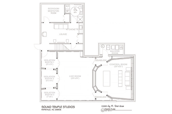 Sound temple recording studios asheville ncsound temple for Recording studio floor plans architecture